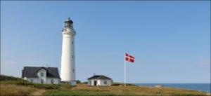 Fyrtårn ved Hirtshals, Danmark.