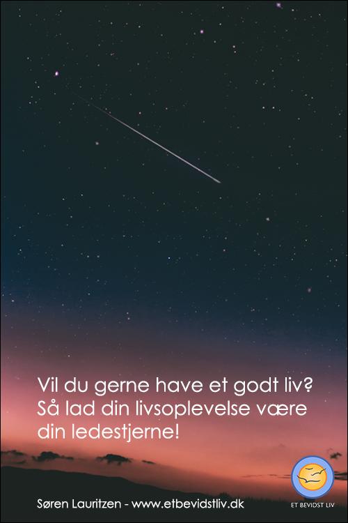Lad din livsoplevelse være din ledestjerne. Foto: Stjerneskud.