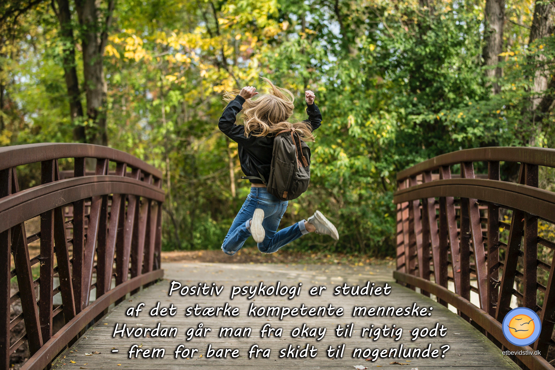 Positiv psykologi er studiet af det stærke kompetente menneske: Hvordan går man fra okay til rigtig godt - frem for bare fra skidt til nogenlunde?